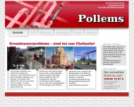 Website Pollems Spezialtiefbau