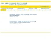 Bild Webseite Allgemeinarztpraxis Dr. Helmut Oestreicher München