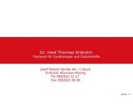 Bild Webseite Kränzlin Thomas Dr. Frauenarzt München