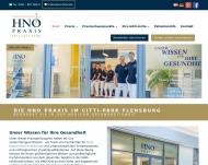 Bild Webseite Oehne Helmut Dr. med. Praxis für HNO Flensburg