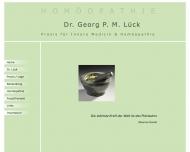 Bild Webseite Lück Georg P. M. Dr. Internist Homöopathie Düsseldorf