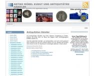 Bild Webseite Antiquitäten Ziegler Nürnberg