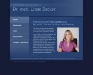 Bild Webseite Decker Liane Dr. med. Internistin München