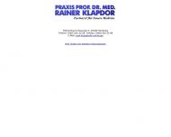 Bild Webseite Klapdor Rainer Prof.Dr. Innere Medizin Hamburg