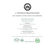 Website Kmetsch Baumschulen