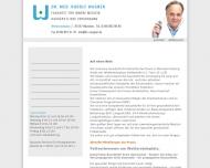 Bild Webseite Wagner Rudolf Dr.med. München