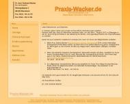 Bild Webseite Praxis Dr. Wacker für Homöopathie in Mannheim Mannheim
