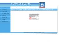 Website Howaldt & Söhne Technischer Großhandel