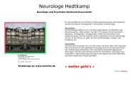 Website Hedtkamp Martin Dr. Facharzt für Neurologie und Psychiatrie