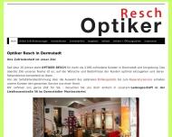 Bild Webseite Optiker Darmstadt - Optiker Resch Darmstadt