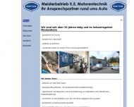 Bild Webseite Ehrenholz K. E. Motorentechnik KFZ-Werkstatt Meckenheim