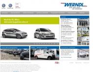 Bild Webseite VW Autohaus Werndl München