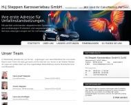 Website Achsvermessung Steppen Karosseriebau