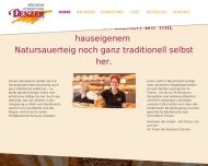 Website Bäckerei Denzer