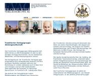 Bild Webseite Frankfurter Verlagsgruppe Aktiengesellschaft Frankfurt