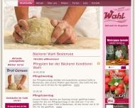 Bild Webseite Bäckerei Konditorei Wahl Berlin