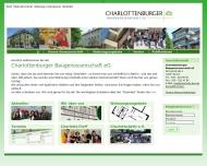 Website Charlottenburger Baugenossenschaft eG Baugenossenschaften