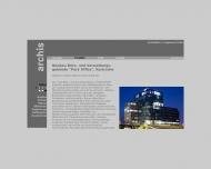 Website archis Architekten + Ingenieure
