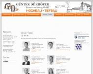 Website Günter Dörhöfer Bauunternehmung