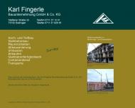 Bild Bauunternehmung Fingerle Verwaltungs GmbH