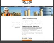 H?HLER Bauunternehmen Dortmund Stra?enbau, Gleisbau, Kanalbau, Tankstellenbau