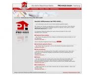 Bild Webseite PRO-HAUS Hamburg