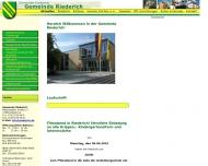 Bild Webseite  Riederich
