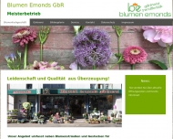Bild Webseite Emonds Blumen Aachen