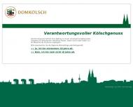 Bild Webseite Dom-Brauerei Köln
