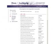Website Horz + Ladewig Ingenieurgesellschaft für Baukonstruktionen