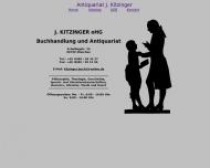 Website Kitzinger J. Buchhandlung und Antiquariat