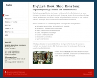 Bild Webseite English Bookshop Konstanz