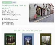 Bild Webseite Buchhandlung Bei St. Annen Annaberg-Buchholz