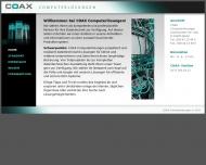 Bild Webseite COAX Computerlösungen Berlin