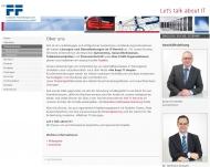Website F&F Computer Anwendungen und Unternehmensberatung