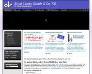 Ihr Elektrofachbetrieb in K?ln Ernst Lamby GmbH Co. KG