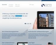 Bild Webseite SFR Software Köln