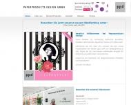 Bild Webseite Paperproducts Design Meckenheim