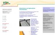 Bild Webseite Grüne Druckerei und Verlag Dortmund