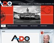 Bild Webseite ADO Berlin