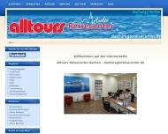 Bild Webseite Alltours Reisecenter Schürmann Reisebüro Aachen