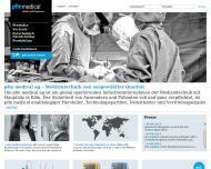 Bild Webseite pfm medical tpm Köln