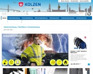 Website Kolzen Arbeitsschutz- und Textilvertrieb