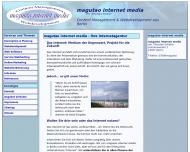 Bild Webseite magutao internet media Berlin