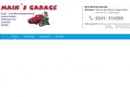 Bild Webseite Maik's Garage Aachen