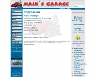 Website Maik's Garage