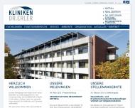 Bild Webseite Dr. Erler Kliniken Nürnberg