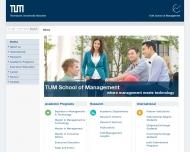 Bild Webseite Technische Universität München, Fakultät für Wirtschaftswissenschaften München