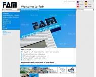 Bild Webseite FAM Förderanlagen Magdeburg Magdeburg