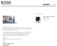 Bild Webseite Galerie & Edition Bode Nürnberg